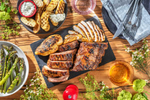 Grilled Applewood Smoked Chicken and Ribs image