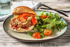 Grilled Italian Sausage Cheeseburger image