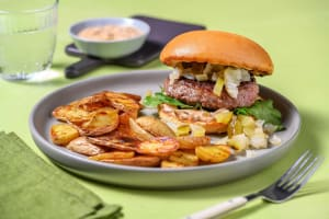 Grilled Onion Burger image