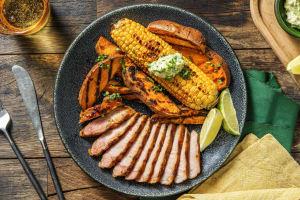Grilled Pork Chop with Jerk BBQ Sauce image