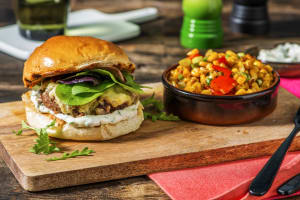 Grilled Tex Mex Cheeseburger image
