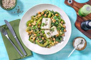 Grünes Shakshuka mit Hirtenkäse & Kressedip image