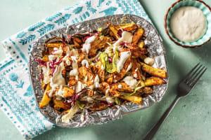 Gyros de poulet avec des frites maison image