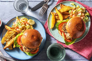 Poulet-Burger mit geschmolzenem Käse image