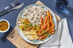 Hähnchen mit Aprikosen-Curry-Soße image