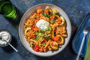 Hähnchen-Perlencouscous-Salat mit Oliven image
