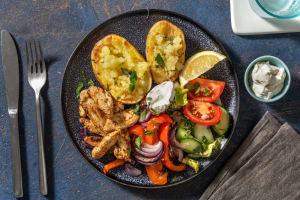 Hähnchen-Gyros mit Ofenkartoffeln image