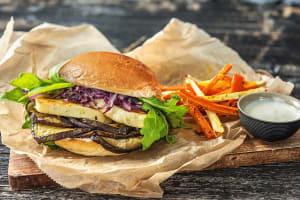 Halloumi-Auberginen-Burger image