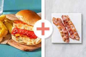 Halloumi and Bacon Burger image