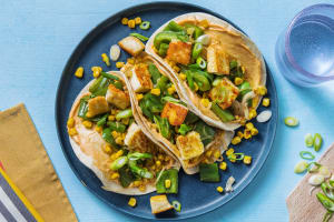 Halloumi, Pepper and Sweetcorn Tacos image