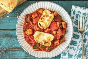 Pan-Fried Haloumi & Basil Ratatouille image