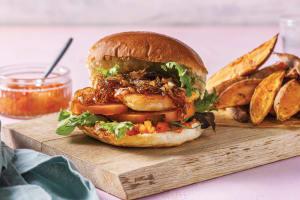 Haloumi & Chargrilled Capsicum Burger image