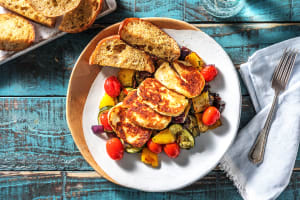 Golden Halloumi and Ratatouille image