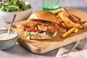 Mediterranean Haloumi, Pesto & Caramelised Onion Burger image