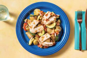 Warm Potato & Haloumi Salad with Basil Pesto image
