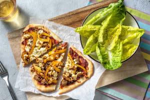 Harissa Sausage Naan Pizza image