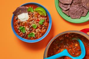 Hearty Black Bean & Poblano Soup image