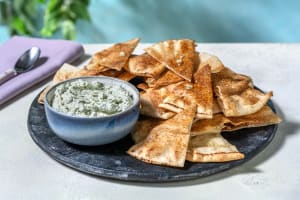 Herby Pistachio Dip with Garlic Flatbread Dippers image
