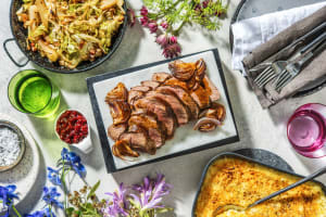 Hirschbraten mit gratiniertem Kartoffelpüree image