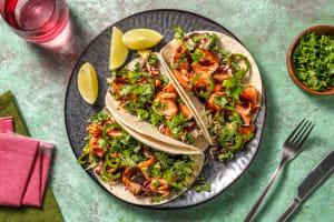 Hoisin-Ginger Glazed Salmon Tacos image