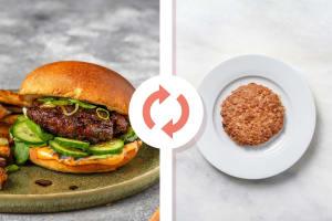 Hoisin-Glazed Veggie Burger image