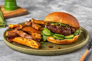 Hoisin-Glazed Beef Burger image