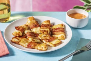 Honey Drizzled Bacon and Halloumi Bites image