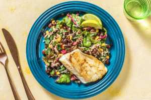 Honey Lime Cod with Jerk Spiced Rice image