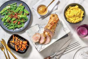 Honey Mustard Pork Fillet & Bacon Greens image