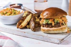 Honig-Teriyaki-Burger mit scharfer Mayo image