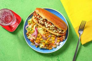 Hot dog de bœuf haché & cheddar image