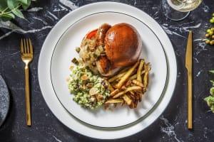 Hot-dog de luxe : saucisse Brandt&Levie à la Chimay et pain brioché image