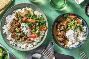 Indian Coconut Beef & Garlic Rice image