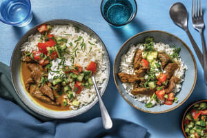 Indian Coconut Beef & Garlic Rice Bowl image