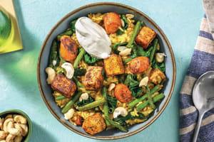 Indian-Spiced Paneer & Veggie Biryani image