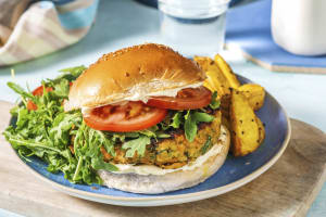 Indian Style Chickpea and Pistachio Burger image