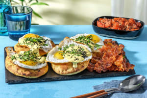 Indian Style Eggs Benedict and Buttery Naans image