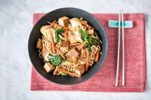 Indonesian Satay Tofu Noodle Stir Fry image