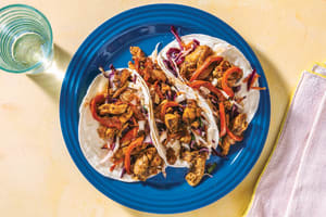 Caribbean Chicken Tacos with Slaw & Garlic Aioli image