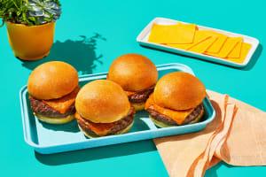 Juicy Cheddar Cheeseburgers image