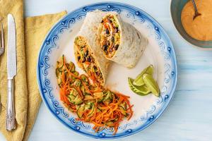 Kimchi Hot Sauce Burritos image