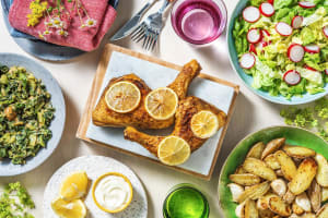 Kippenbout met citroen en krieltjes uit de oven image