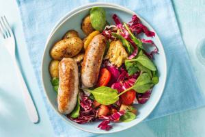Kipworstjes met Italiaanse panzanella-salade image