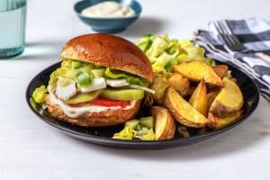 Kiwi-Halloumi-Burger mit Joghurt-Aioli image