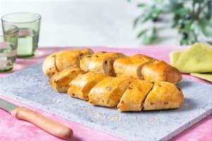 Knoblauch-Baguette mit getrockneten Tomaten image
