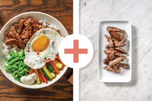 Korean Double Beef Bibimbap image