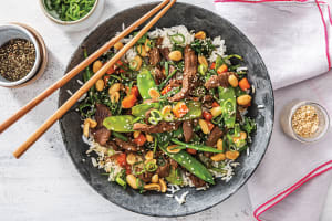 Korean Beef & Rainbow Veggie Rice Bowl image