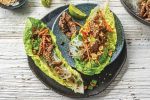 Korean Style Beef & Vermicelli Noodle Lettuce Cups image