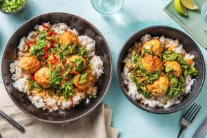 Kycklingbullar med currysås image