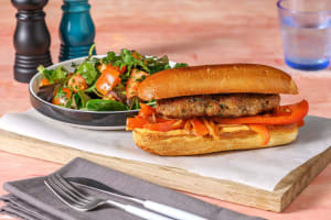 Lamb Merguez Burger on a Bun image